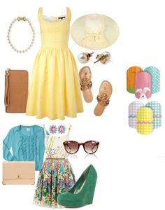 idea outfits like yellow... Easter day wrap