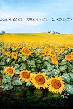 Campo di girasoli (Field of sunflowers)  oil on canvas, 50x70    Private Collection