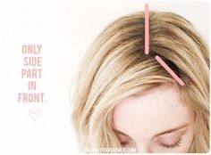THE BEST WAY TO SIDE PART | the beauty department | Bloglovin'