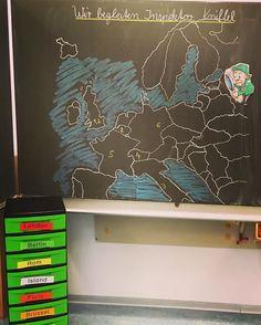 Tafelbild zur spannenden Lesereise durch Europa  aus der Kreativen Ideenbörse 3/4 mit Inspektor Kniffel - hat viel Spaß gemacht  #Lesereise #lesespur #kreativeideenbörse #grundschullehrerin #grundschule #grundschulmaterial #deutschunterricht #leseunterricht #lesemotivation #teachersofinstagram #teachersfollowteachers