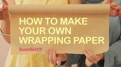 "7 January ""Takealot of this DIY Christmas Special with Suzelle"". Episode How to make your own wrapping paper. Diy Christmas Wrapping Paper, Diy Wrapping Paper, Diy Holiday Cards, Diy Paper, Wrapping Papers, Diy Christmas Videos, Diy Christmas Gifts, Cute Gift Wrapping Ideas, Make Your Own"