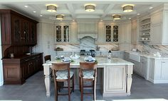 Plain & Fancy Custom Cabinetry designed by Granite State Cabinetry Frank Morris Jr #DreamDesignContest #Kitchen