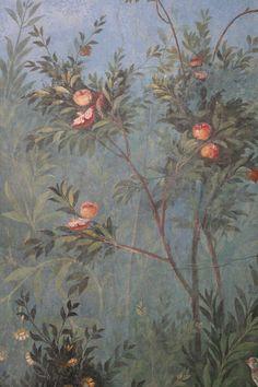 Roman fresco detail, Villa of Livia, Prima Porta Rome Painting, Mural Painting, Ancient Rome, Ancient Art, Art Romain, Pompeii And Herculaneum, Décor Antique, Roman Art, Of Wallpaper
