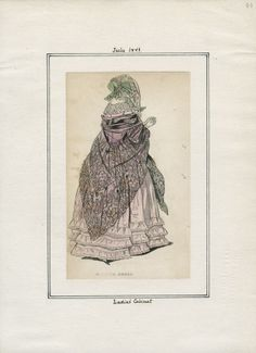 Casey Fashion Plates Detail | Los Angeles Public Library July 1841 Ladies Cabinet