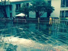 Jornada de limpieza en la Plazoleta del Rosario.
