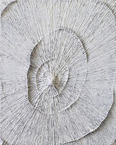 Timothy Bergstrom, Glound (2011) glue, wire, acrylic on canvas, 30 × 24 inches