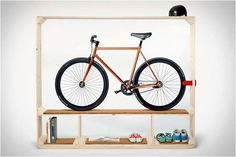 space-saving bike storage ideas for small apartments. Indoor bike storage solutions are for people who can't part with their bicycle. Indoor Bike Storage, Bicycle Storage, Bicycle Rack, Bicycle Stand, Bicycle Wheel, Bike Storage Solutions, Storage Ideas, Storage Room, Storage Shelving