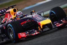 Dan in the RB10 in Jerez