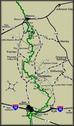 Medina River Map Courtesy Texas Parks Amp Wildlife