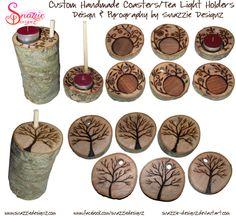 Handmade Coasters/Tea Light Holders 01 by snazzie-designz.deviantart.com on @DeviantArt