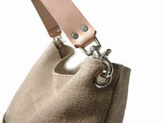 Beach Bag Bucket Tote Hobo Tote Linen Tote Bag by IndependentReign
