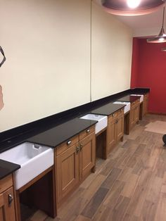 The Nero Stella was chosen in this Barber shop. The material is perfect for a high-use commercial area, so ideal for a barbers. Shop Counter, Granite Colors, Barber Shop, Kitchen Cabinets, Barbers, Salons, Commercial, Colours, Shopping