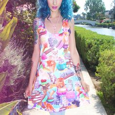 Kittens And Ice Cream Tank Dress