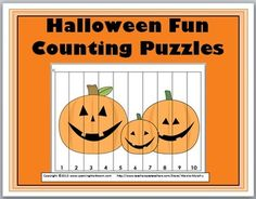 Halloween Counting Puzzles classroom idea, count puzzl, kindergarten math, puzzles, halloween fun, fall, kindergarten halloween, educ, fun count