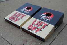 "Daredevil Brewing Company ""West Coast Style"" LIFT OFF IPA custom cornhole ""Works"" set."