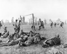 Football was played in all theatres of war during the First World War.