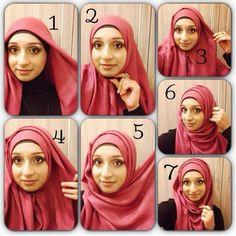 super simple hijab tutorial! @hijab Fashion Styles-#statigram