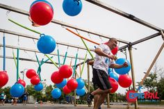 Lighter weight with varying heights (standing or seated) could push balls and/or be driven through Obstacle Races, Epic Fail, Playgrounds, Lighter, Balls, Exercise, How To Plan, Learning, Inspiration