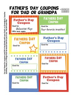 father day coupons free printable