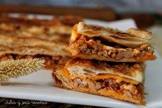 Hojaldre de carne picada con tomate, Receta Petitchef Meat Recipes, Snack Recipes, Snacks, Healthy Fats, Healthy Choices, Tacos And Burritos, Thanksgiving Menu, Vegetable Dishes, Lasagna