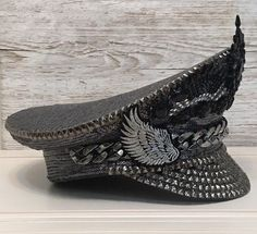 8e2dec71d11fc Ištar Sequin Captain Hat Peaked Cap Military Hat