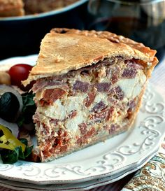 Easter Pie...an Italian meat pie filled with Italian meats and cheeses...