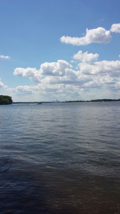 Philly skyline on the Delaware River. Amico Island Park - Delran, New Jersey