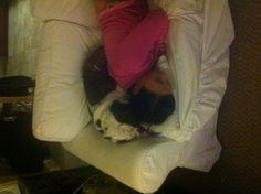 Diesel likes to cuddle...:)