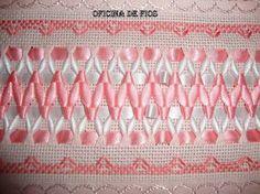 Resultado de imagen para toalhas bordadas com trançado de fitas