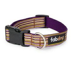 Eco Friendly Purple Thin Stripe Dog Collar