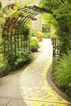 I love this Yellow Brick Road, Legacy Emanuel Children's Hospital Garden, Portland