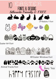 Silhouette School: 10 (Silhouette Friendly) FREE Easter Fonts and Designs