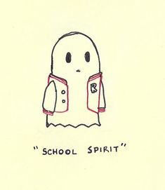 school spirit would be cute on a poster advertising fall fest - Halloween Slogans