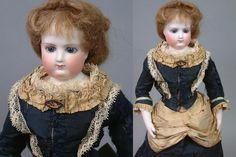 "Incredible 15.5"" All Original Early Jumeau Poupee With Wooden Arms & from kathylibratysantiques on Ruby Lane"