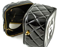 Chanel's Vintage Black Quilted Patent Case <3<3