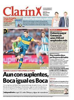 Aun con suplentes, Boca igual es Boca. Más información: http://www.clarin.com/edicion-impresa/