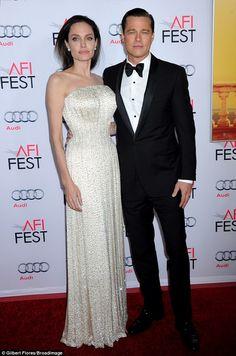 Wow! Angelina Jolie dazzled alongside husband Brad Pitt at the LA screening of By The Sea on Thursday