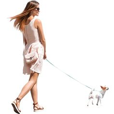 Female model with model dog