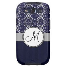 ==>Discount          Silver Damask on Blue with Stripes and Monogram Samsung Galaxy S3 Cover           Silver Damask on Blue with Stripes and Monogram Samsung Galaxy S3 Cover we are given they also recommend where is the best to buyHow to          Silver Damask on Blue with Stripes and Mono...Cleck Hot Deals >>> http://www.zazzle.com/silver_damask_on_blue_with_stripes_and_monogram_case-179898910920533665?rf=238627982471231924&zbar=1&tc=terrest