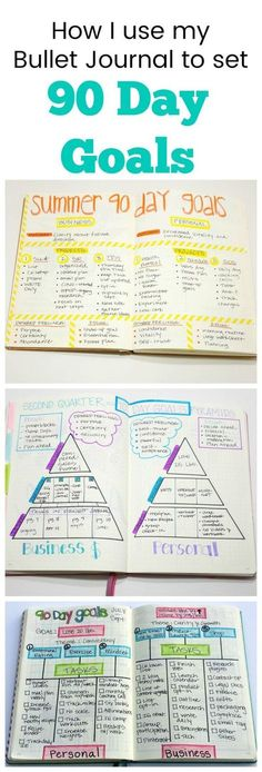 How I use my bullet journal to set 90 day goals.
