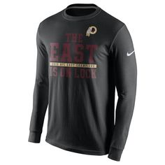 Washington Redskins Nike 2015 NFC East Division Champions Long Sleeve  T-Shirt - Black 77342a4ad