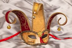 Masquerade Masks - Venetian Masks - Jesters - JESTER DOUBLE