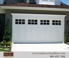 28 Unordinary Home Garage Door Design Ideas. Garage door styles are not likely to be a hot topic of conversation but with so many to choose from today they could well be. If you have decided to purchase a new garage door suddenly you take notice of . Garage Door Trim, White Garage Doors, Double Garage Door, Craftsman Garage Door, Custom Garage Doors, Garage Door Windows, Modern Garage Doors, Garage Door Decor, Garage Door Styles