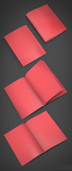 Free A4 Booklet Mockup #freepsdfiles #freepsdmockups #psdtemplate #freebies #presentationmockups