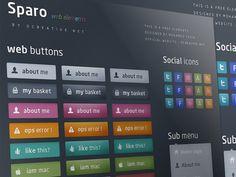 Sparo - Free web elements PSD/PNG