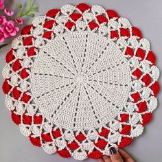 Crochet Coaster Pattern, Crochet Edging Patterns, Crochet Borders, Crochet Designs, Lace Doilies, Crochet Doilies, Crochet Flowers, Crochet Home, Diy Crochet