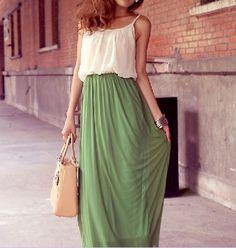 Long skirt. Love!