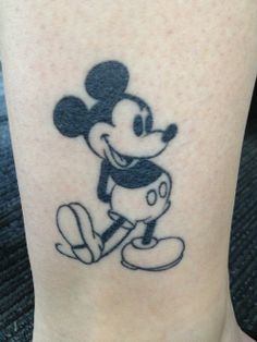 Not sure whether to pin this in geek stuff or tattoos because I'm a geek about old fashioned Mickey.