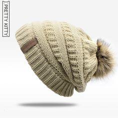 540427a5e0d 2017 hot Double layer fur ball cap pom poms winter hat for women girls hat  knitted beanies cap thick female cap