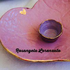 Ceramica com detalhe em ouro